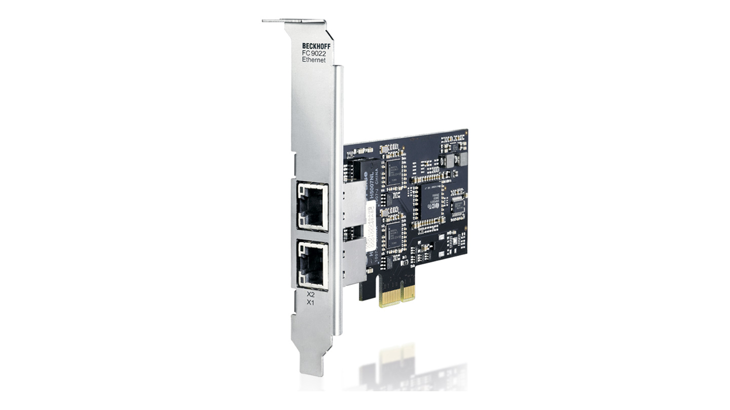 FC9022 | Infrastructure, 2-channel fieldbus card, Ethernet, 1Gbit/s, PCI express, RJ45
