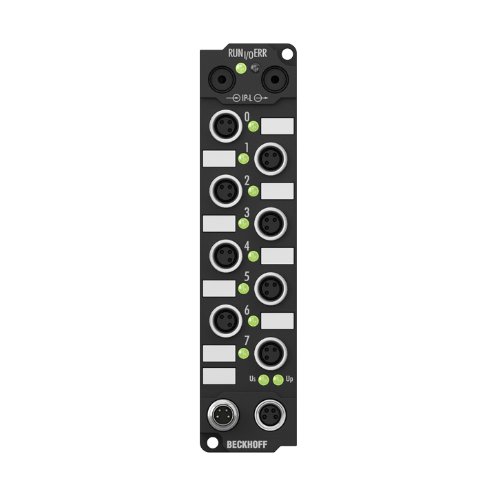 IE1001 | Extension Box, 8-channel digital input, 24VDC, 3ms, M8