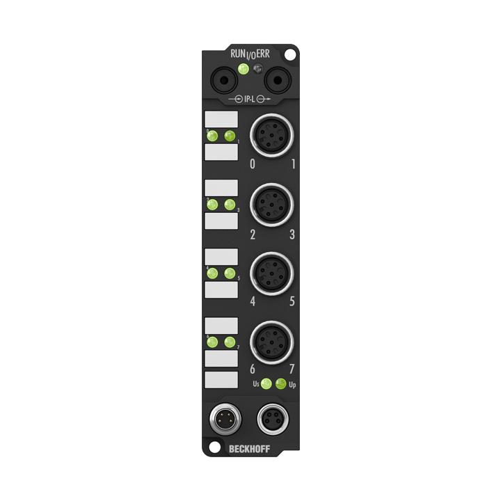 IE1002 | Extension Box, 8-channel digital input, 24VDC, 3ms, M12