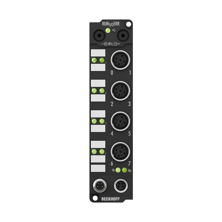 IE1012   Extension Box, 8-channel digital input, 24VDC, 0.2ms, M12