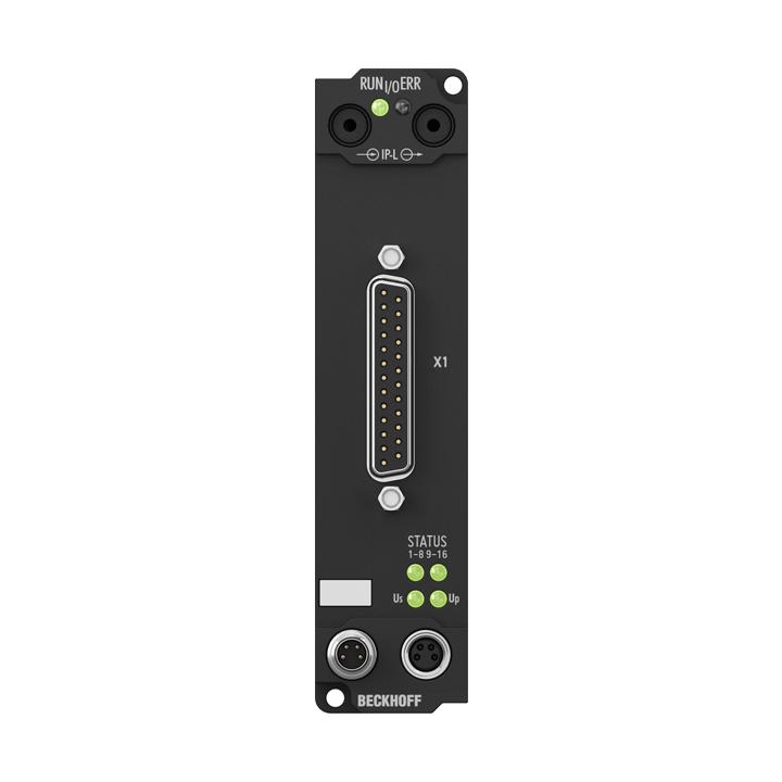 IE2808 | Extension Box, 16-channel digital output, 24VDC, 0.5A, D-sub