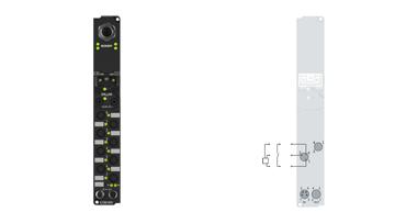IL2300-B901 | Coupler Box, 4-channel digital input + 4-channel digital output, Ethernet, 24VDC, 3ms, 0.5A, Ø8
