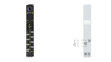 IL2301-B905   Coupler Box, 4-channel digital input + 4-channel digital output, EtherNet/IP, 24VDC, 3ms, 0.5A, M8