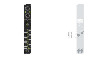 IP1001-B310 | Fieldbus Box, 8-channel digital input, PROFIBUS, 24VDC, 3ms, M8