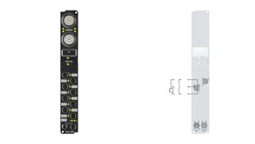 IP1011-B400 | Fieldbus Box, 8-channel digital input, Interbus, 24VDC, 0.2ms, M8