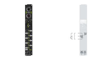 IP1011-B528 | Fieldbus Box, 8-channel digital input, DeviceNet, 24VDC, 0.2ms, M8, integrated T-connector