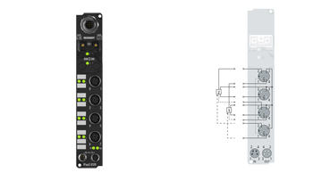 IP1502-B520 | Fieldbus Box, 2-channel digital input, DeviceNet, counter, 24VDC, 100kHz, M12