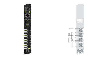 IP1502-B528 | Fieldbus Box, 2-channel digital input, DeviceNet, counter, 24VDC, 100kHz, M12, integrated T-connector