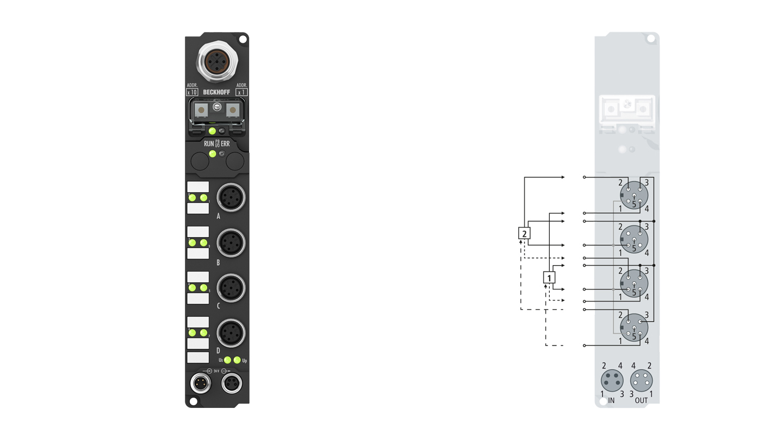 IP1502-B800 | Feldbus-Box-Module für RS485