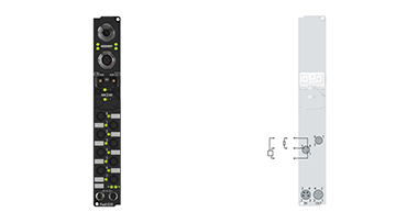 IP2000-B318 | Fieldbus Box, 8-channel digital output, PROFIBUS, 24VDC, 0.5A, Ø8, integrated T-connector