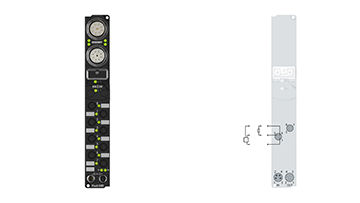 IP2020-B400 | Fieldbus Box, 8-channel digital output, Interbus, 24VDC, 2A, Ø8