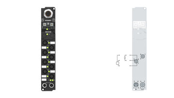 IP20x0-Bxxx, 8 mm, snap type