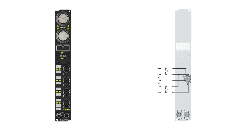 IP2022-B400   Fieldbus Box, 8-channel digital output, Interbus, 24VDC, 2A, M12