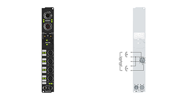 IP2002-B510 | Fieldbus Box, 8-channel digital output, CANopen, 24VDC, 0.5A, M12