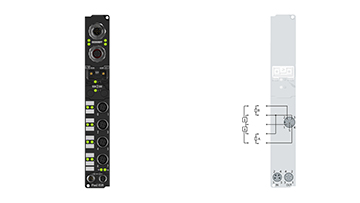 IP2002-B528 | Fieldbus Box, 8-channel digital output, DeviceNet, 24VDC, 0.5A, M12, integrated T-connector