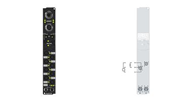 IP2040-B310 | Fieldbus Box, 8-channel digital output, PROFIBUS, 24VDC, 2A (∑12A), Ø8
