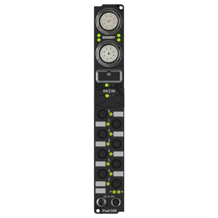 IP2040-B400 | Fieldbus Box, 8-channel digital output, Interbus, 24VDC, 2A (∑12A), Ø8