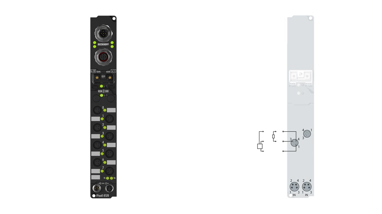 IP2040-Bxxx, Ø8, schnappbar