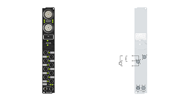 IP2041-B400 | Fieldbus Box, 8-channel digital output, Interbus, 24VDC, 2A (∑12A), M8