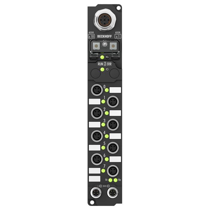 IP2041-B810 | Fieldbus Box, 8-channel digital output, RS232, 24VDC, 2A (∑12A), M8