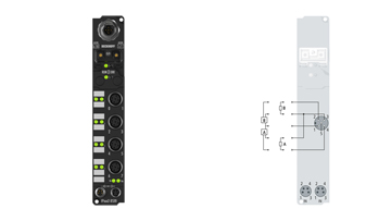 IP2042-B520 | Fieldbus Box, 8-channel digital output, DeviceNet, 24VDC, 2A (∑12A), M12
