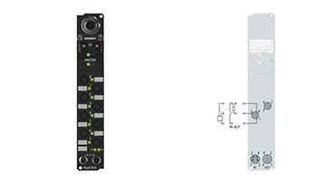 IP2330-B510 | Fieldbus Box, 4-channel digital input + 4-channel digital output, CANopen, 24VDC, 0.2ms, 2A, Ø8