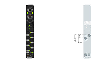 IP2320-B518 | Fieldbus Box, 4-channel digital input + 4-channel digital output, CANopen, 24VDC, 3ms, 2A, Ø8, integrated T-connector