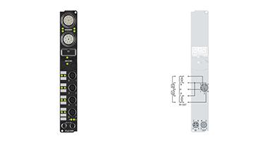 IP2322-B400 | Fieldbus Box, 4-channel digital input + 4-channel digital output, Interbus, 24VDC, 3ms, 2A, M12
