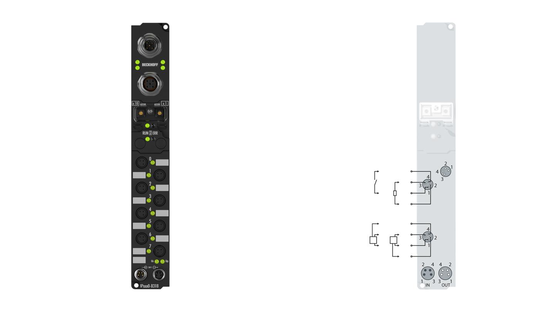 IP2400-Bxxx, Ø8, schnappbar