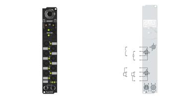 IP2400-B520 | Fieldbus Box, 8-channel digital input + 8-channel digital output, DeviceNet, 24VDC, 3ms, 0.5A, Ø8