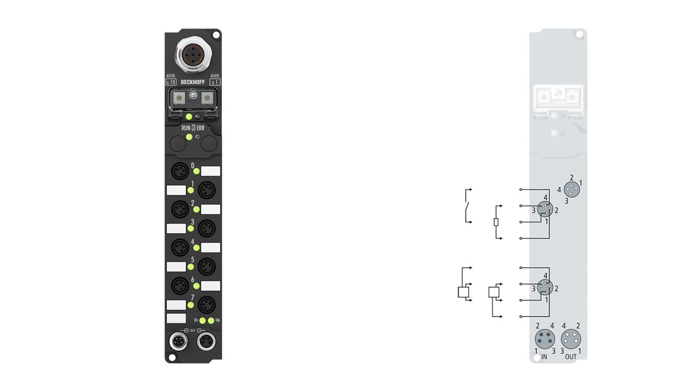 IP2400-Bxxx, 8 mm, snap type