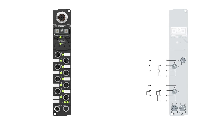 IP2401-Bxxx, M8, screw type