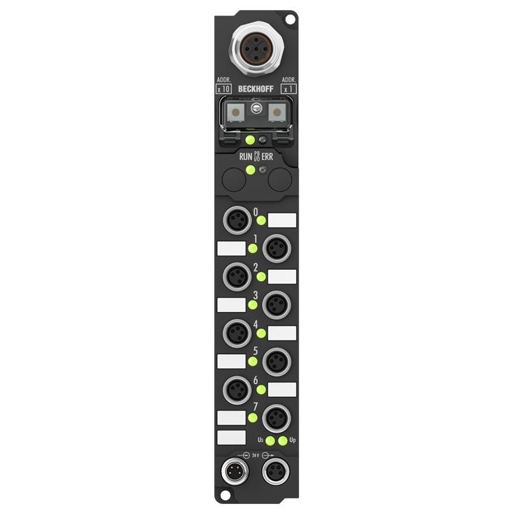 IP2401-B730 | Fieldbus Box, 8-channel digital input + 8-channel digital output, Modbus, 24VDC, 3ms, 0.5A, M8