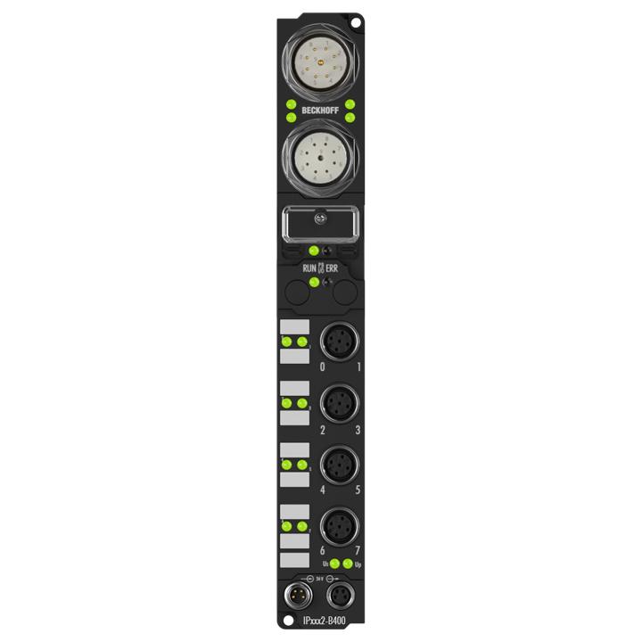 IP3102-B400 | Fieldbus Box, 4-channel analog input, Interbus, voltage, ±10V, 16bit, differential, M12