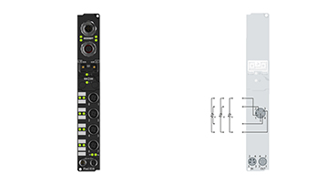 IP3202-B518 | Fieldbus Box, 4-channel analog input, CANopen, temperature, RTD (Pt100), 16bit, M12, integrated T-connector