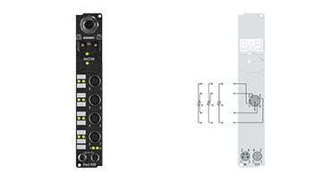 IP3202-B520 | Fieldbus Box, 4-channel analog input, DeviceNet, temperature, RTD (Pt100), 16bit, M12