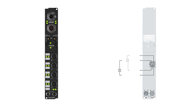 IP3312-B510 | Fieldbus Box, 4-channel analog input, CANopen, temperature, thermocouple, M12
