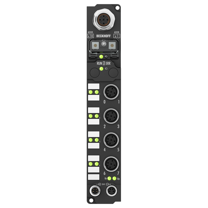 IP3312-Bxxx | Fieldbus Box, 4-channel analog input, temperature, thermocouple, M12