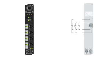 IP4112-B520 | Fieldbus Box, 4-channel analog output, DeviceNet, current, 0/4…20mA, 16bit, single-ended, M12