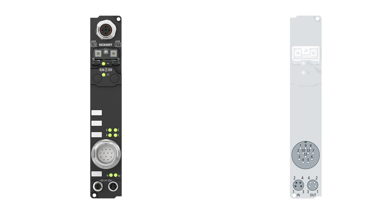 IP5009-B800 | Fieldbus Box, 1-channel encoder interface, RS485, SSI, M23