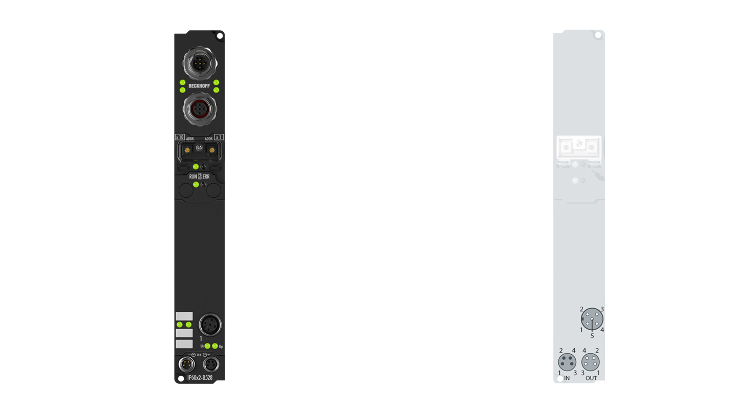 IP6002-B528 | Fieldbus Box, 2-channel communication interface, DeviceNet, serial, RS232, M12, integrated T-connector