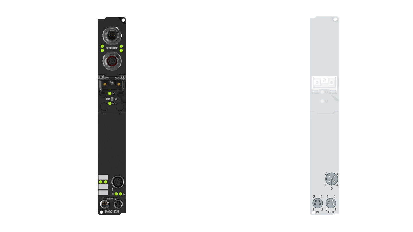 IP6012-B528 | Fieldbus Box, 2-channel communication interface, DeviceNet, serial, TTY, 20mA, M12, integrated T-connector
