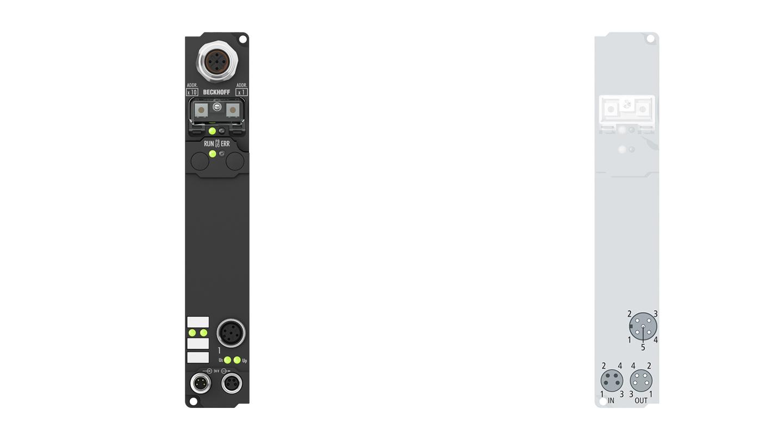 IP6012-Bxxx | Fieldbus Box, 2-channel communication interface, serial, TTY, 20mA, M12