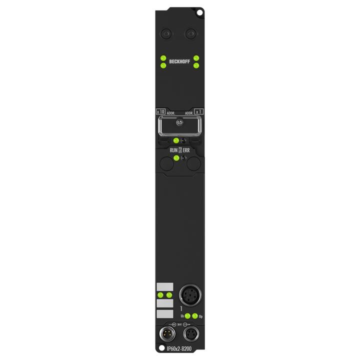 IP6022-B200 | Fieldbus Box, 2-channel communication interface, Lightbus, serial, RS422/RS485, M12