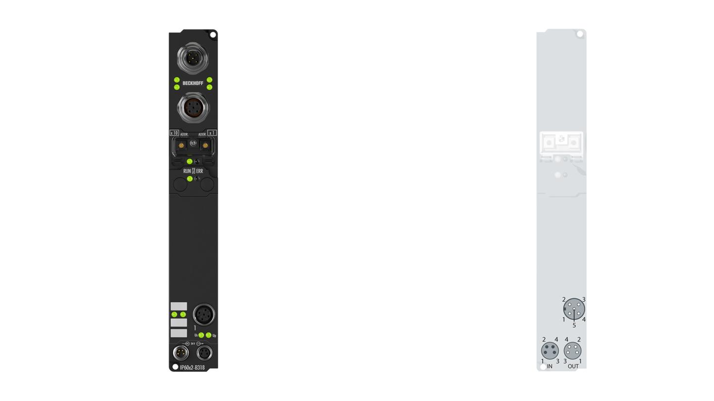 IP6022-B310 | Fieldbus Box, 2-channel communication interface, PROFIBUS, serial, RS422/RS485, M12