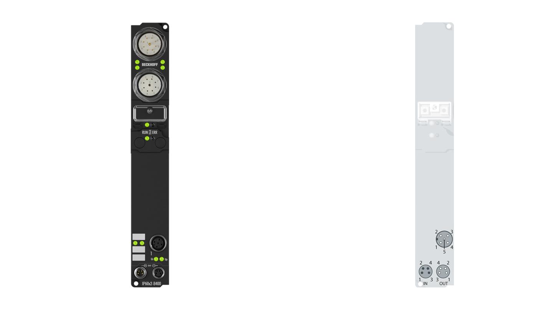 IP6022-B400 | Fieldbus Box, 2-channel communication interface, Interbus, serial, RS422/RS485, M12