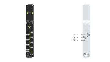IP1000-B200 | Fieldbus Box, 8-channel digital input, Lightbus, 24VDC, 3ms, Ø8