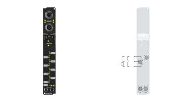 IP1000-B310 | Fieldbus Box, 8-channel digital input, PROFIBUS, 24VDC, 3ms, Ø8