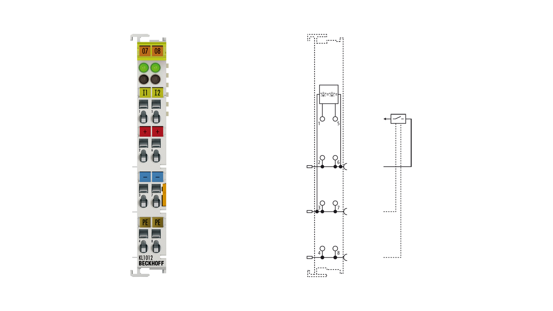 KL1012 | Bus Terminal, 2-channel digital input, 24VDC, 0.2ms
