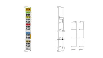 KL1052 | 2-Kanal-Digital-Eingangsklemme 24VDC, positiv-/masseschaltend